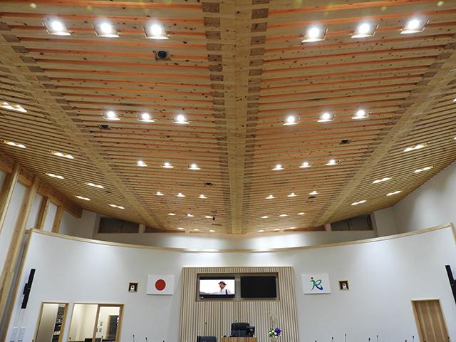 張弦梁構造の天井